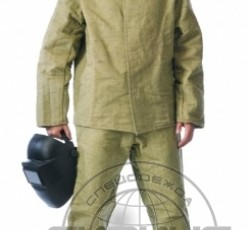 Костюм сварщика зимний: куртка, брюки брезентовый