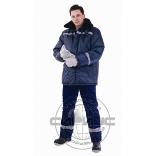 "Куртка ""СЕВЕР-4"" дл.,зимняя, тк.Оксфорд, синяя"