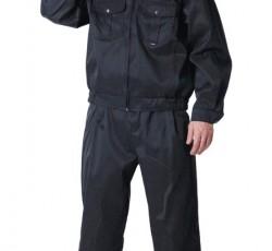 """Костюм """"АЛЬФА"""": куртка, брюки (тк. смесовая) чёрный"""