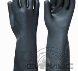 "Перчатки ""БЛЭК ГАУНТЛЕТ"" р.M,L,XL,XXL (латекс, без хлопкового слоя, толщ.0,80мм,дл.450мм.)"