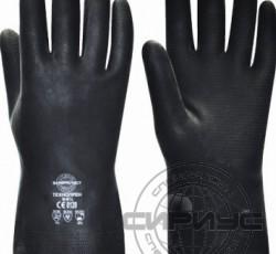 """Перчатки """"ТЕХНОПРЕН"""" р.S,M,L,XL (неопрен, хлопковый слой, толщ.0,75мм,дл.300мм.)"""