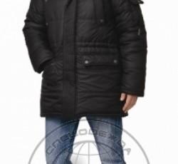"""Куртка """"ОСТИН"""" мужская утепленная черная с меховой опушкой"""