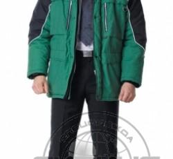 """Куртка """"ВЕГА"""" дл.,зелёная с чёрным"""