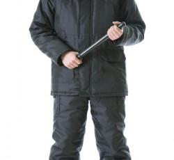 """Костюм """"ОХРАННИК-С"""" зимний: куртка дл., полукомбинезон чёрный"""
