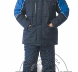 """Куртка """"ВЕГА"""" дл.,синяя с васильковым"""