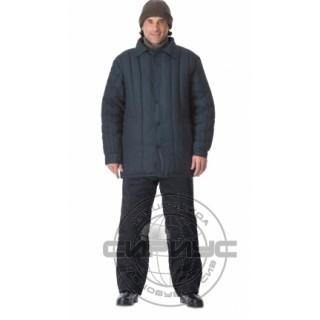 Куртка утеплённая (диагональ, 1,6 кг ваты) чёрная