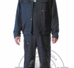 """Костюм """"ЭКСПЕРТ"""": куртка, полукомбинезон тёмно-синий с васильковым и СОП"""