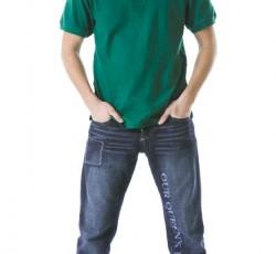 Рубашка-поло короткие рукава зелёная