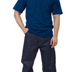 Рубашка-поло короткие рукава тёмно-синяя