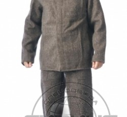 Acid and alkali resistant suit, woollen: jacket, trousers, hat. Grey