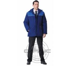 """Куртка """"БРИГАДИР""""дл.,мужская тёмно-синяя с васильковым"""