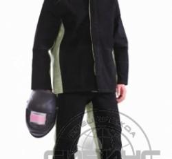 Костюм сварщика: куртка, брюки брезентовый со спилком (2,4 кв.м) тип Б
