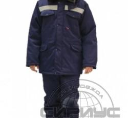 "Костюм ""Мастер-ПРО "" зимний: куртка дл., брюки темно-синий СОП-50 мм"