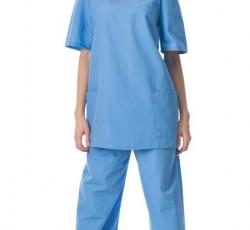 Костюм хирурга универсальный: блуза, брюки голубой