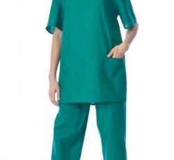Костюм хирурга универсальный: блуза, брюки зелёный