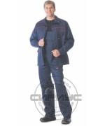 """Костюм """"ПРОФЕССИОНАЛ"""": куртка, полукомбинезон синий с красным кантом"""