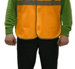 "Signaling multiuse waistcoat ""Gabarit-V"" with 3 light-reflecting lines (Oxford fabric),orange"