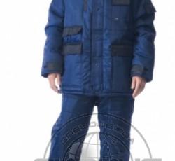 """Костюм """"БЕРКУТ"""": куртка дл., полукомбинезон синий с чёрным"""