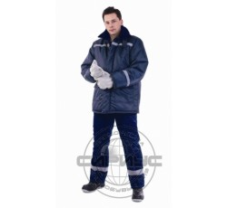 "Куртка ""СЕВЕР-2"" зимняя без мех. воротника тк. Оксфорд синяя"