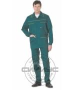 """Костюм """"ПРОФЕССИОНАЛ"""": куртка, полукомбинезон зелёный с жёлтым кантом"""