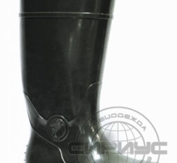 PVC high boots for men with a metal toe box, acid and alkali, oil resistant, height 38sm