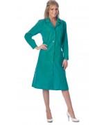 Халат женский с рельефами зелёный