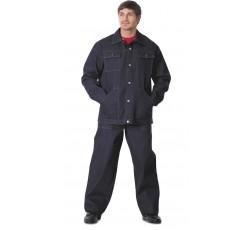 Костюм рабочий джинсовый: куртка, брюки синий