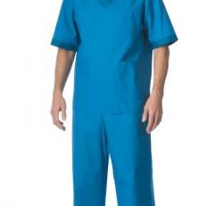 """Костюм """"РЕАЛ"""" мужской: куртка, брюки, колпак светло-синий с бирюзовым"""