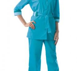 """Костюм """"ФЛОРА"""" женский: куртка, брюки светло-бирюзовый"""