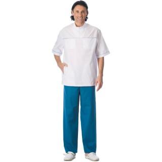 """Костюм """"ЛОР"""" мужской: куртка, брюки белый со светло-синим"""