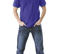Рубашка-поло короткие рукава васильковая