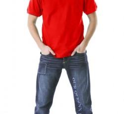 Рубашка-поло короткие рукава красная
