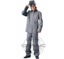 """Костюм """"САЛАМАНДРА"""" для сварщика: куртка, брюки серый с чёрным"""