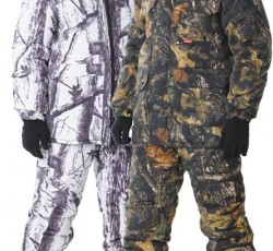 """Suit """"Chameleon"""": jacket, bib overall. """"Winter""""+""""Leave"""" camouflage"""