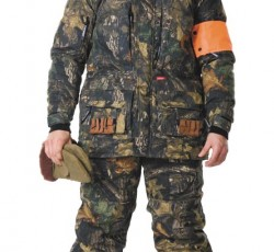 """Suit """"Hunter-Luxe"""" for winter: jacket, """"Dubok"""" camouflage bib overall"""