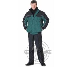 """Куртка """"АВТОМАСТЕР"""" зелёная с чёрным"""