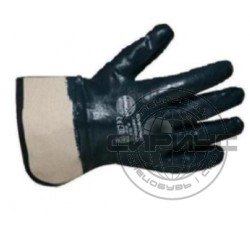 Перчатки нитриловые с твёрдыми манжетами обливные (аналог HYCRON), р.XL