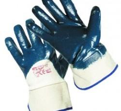Перчатки нитриловые с твёрдыми манжетами полуобливные (аналог HYCRON), р.XL