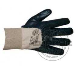 Перчатки нитриловые с эластичными манжетами полуобливные (аналог HYCRON), р.XL