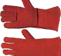 Краги спилковые пятипалые с подкладкой цвета в ассортименте (Е.С.)