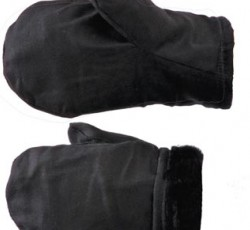 Рукавицы утеплённые (диагональ, натуральный мех)