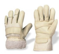 """Перчатки утепленные кожаные комбинированные """"ICE"""" (утепл.иск. мех) р.11, Feldtman Германия"""