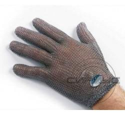 Перчатки кольчужные 5 пальцев без отворота 1шт. Германия (застежка на кр.) р. S.M.L.XL.XXL