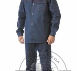 """Костюм """"ИМПУЛЬС"""": куртка, брюки синий с красным кантом"""