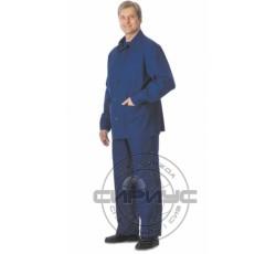 Костюм с налокотниками и наколенниками: куртка, брюки (диагональ) синий
