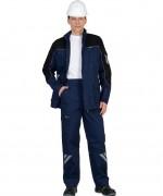 """Костюм """"ФОТОН"""" мужской: куртка, брюки (темно-синий с черным) тк.Родос"""