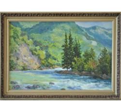 "Danilov Anatoly Vasilievich, Honored artist of the Chuvash Republic  (1954)  ""Mountain river"""